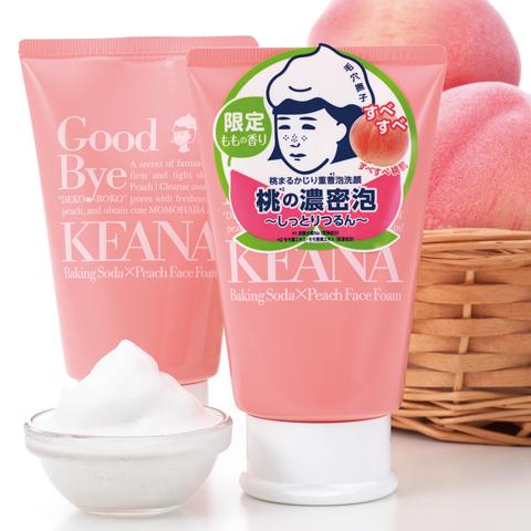桃まるかじり重曹泡洗顔